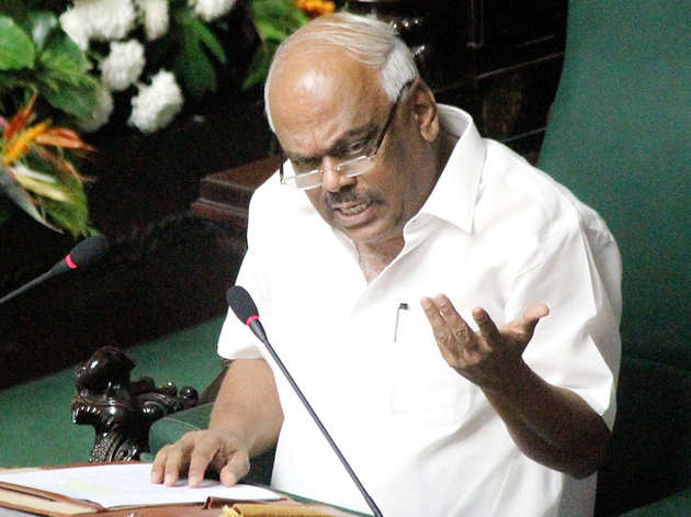 कर्नाटक विधानसभा के स्पीकर केआर रमेश कुमार (फाइल)
