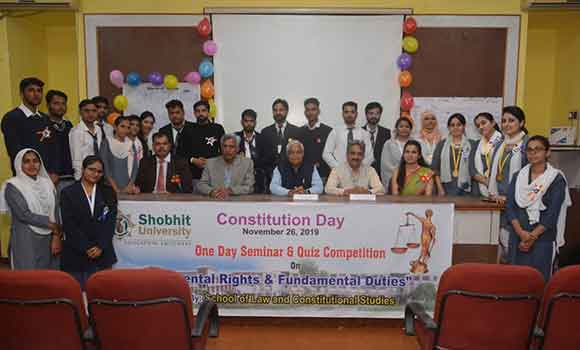 constitutional day in shobhit university