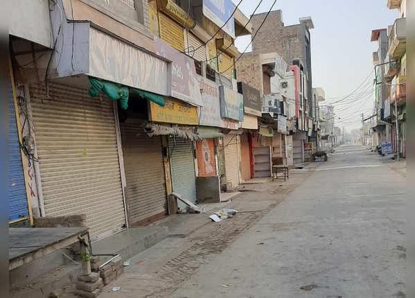 राजस्थान में दुकान बंद, सड़कें खाली