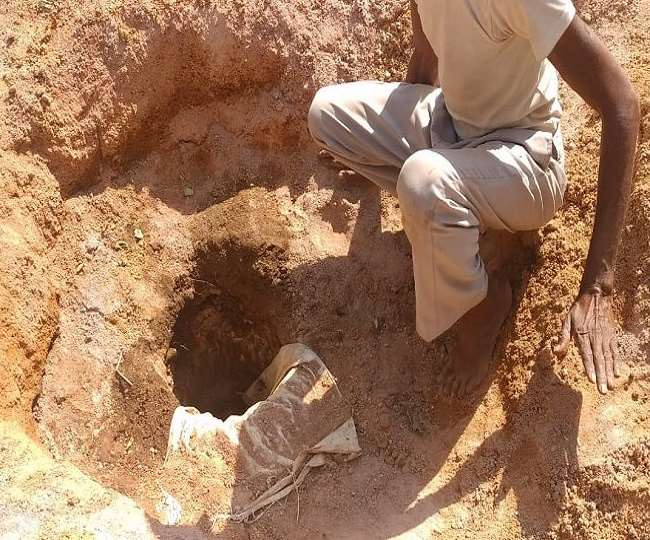 child fell into an open borewell