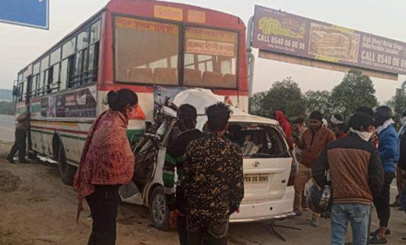 Innova collided with bus